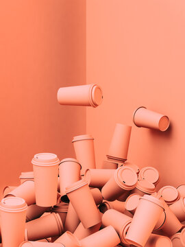 Pink papercups on pink