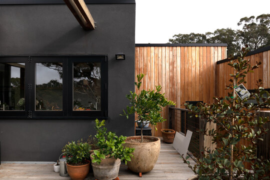Elevated courtyard with materials from re-cylcling