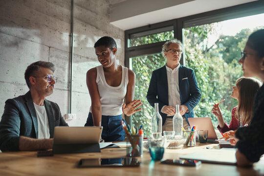 Teamwork of business people