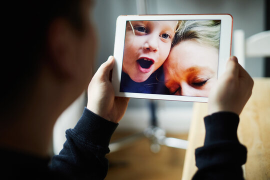Family on a video call