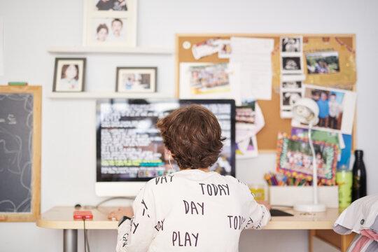Teenager typing code