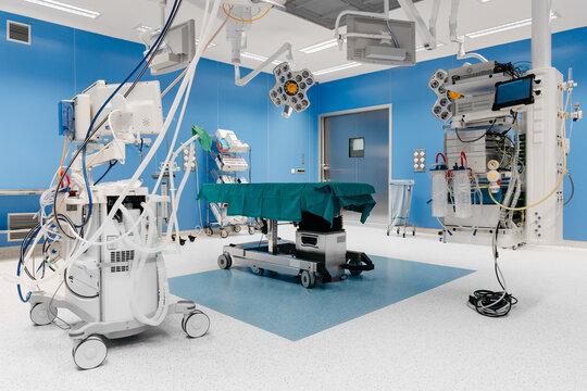 Empty modern operating theatre