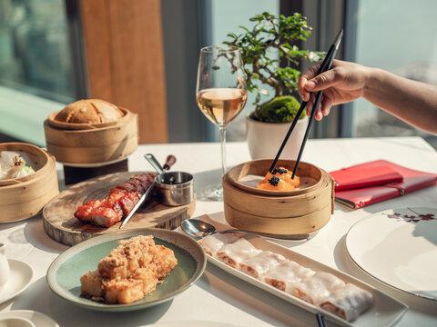 Dim Sum with chopsticks