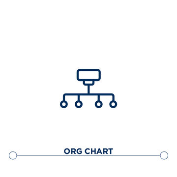 org chart outline vector icon. thin line black org chart icon. flat vector simple element illustration. editable vector stroke org chart icon on white background
