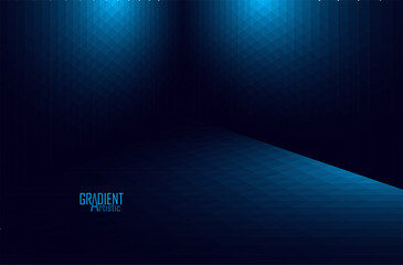 Abstract perspective background with geometric shapes and gradient color design.