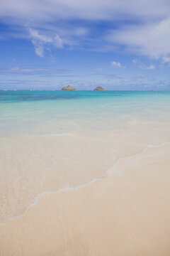 Tropical beach with clear turquoise water