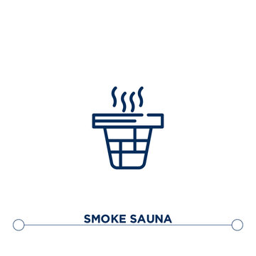 smoke sauna outline vector icon. simple element illustration. smoke sauna outline icon from editable sauna concept. can be used for web and mobile