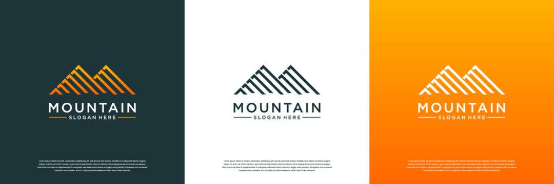Abstract maountain logo design template.