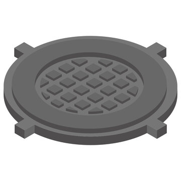 Isometric icon of waste strainer