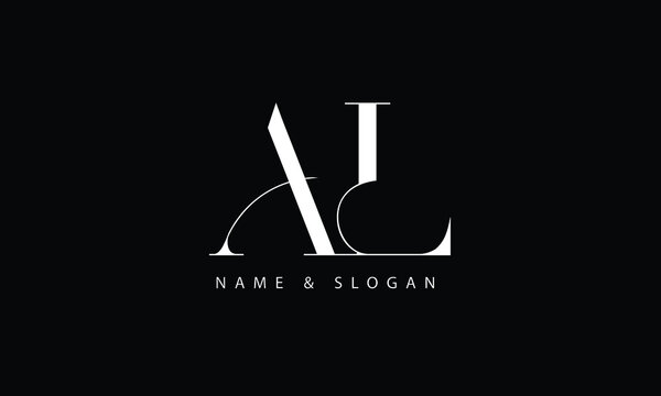 AL, LA, A, L abstract letters logo monogram