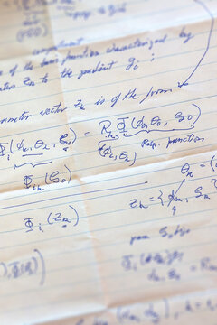 PhD level mathematics on a notepaper