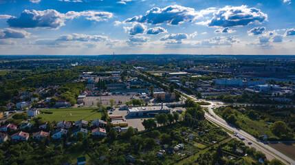 Widok na Wojewódzki Ośrodek Ruchu Drogowego WORD, panorama miasta Gorzów Wielkopolski