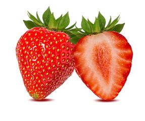 Fototapete - strawberry  isolated on white background