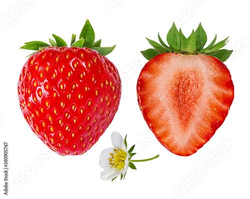 Fototapete strawberry  isolated on white background