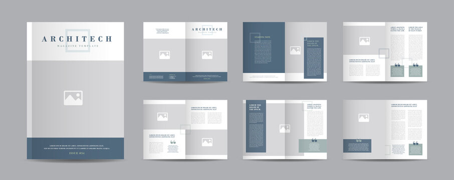 Minimal Magazine Design | Editorial Lookbook Layout | Fashion and Multipurpose portfolio | Photo Book Design