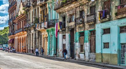 Walking in the streets of Havana Cuba