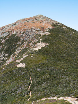Looking at Mount Lafayette from Franconia Ridge in the White Mountains of New Hampshire
