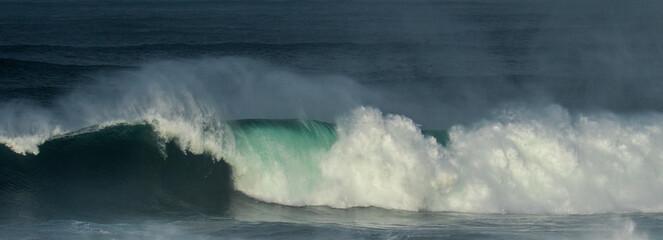 huge waves at Cape Kiwanda on the Oregon coast at Pacific City