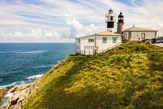 Cervo, Spain. The lighthouse of Punta Atalaia San Cibrao in Galicia
