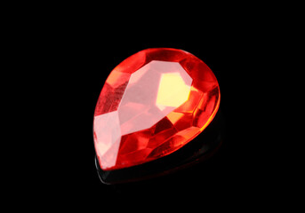 Beautiful gemstone for jewelry on black background