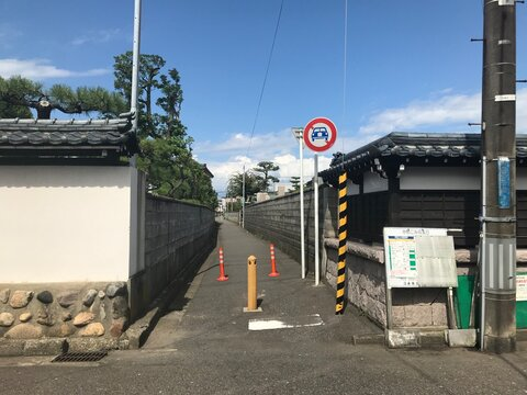 Small Street between Temples in Japan