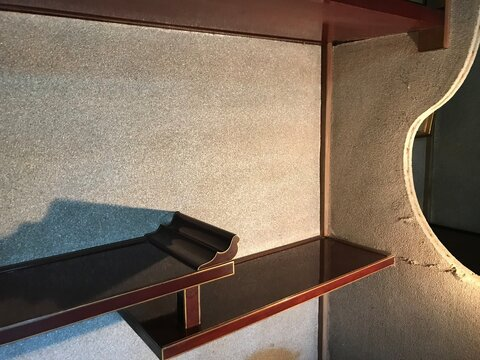 Set of Staggered Shelves in Japanese Old House