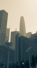 San Francisco Skyline obscured by haze from California fires