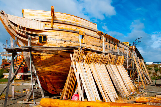 Construction of a Wooden Ship