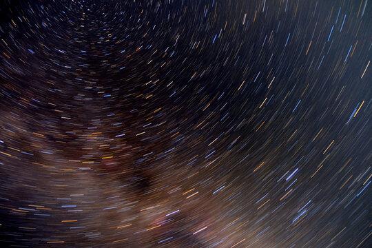 Stars long speed shutter