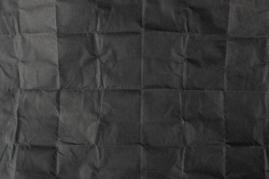 Crumpled Paper Texture Background, Wrinkled Document Pattern