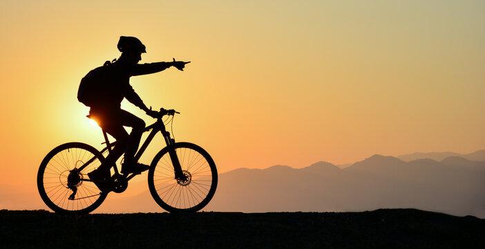 guiding cyclist
