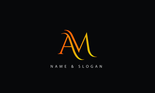 AM, MA , A, M abstract letters logo monogram