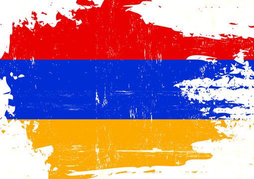 Scratched armenian flag. An armenian grunge flag for you