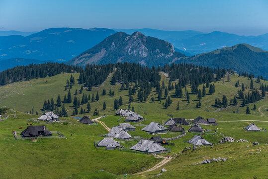 Shepherd's village in Velika Planina, Slovenia