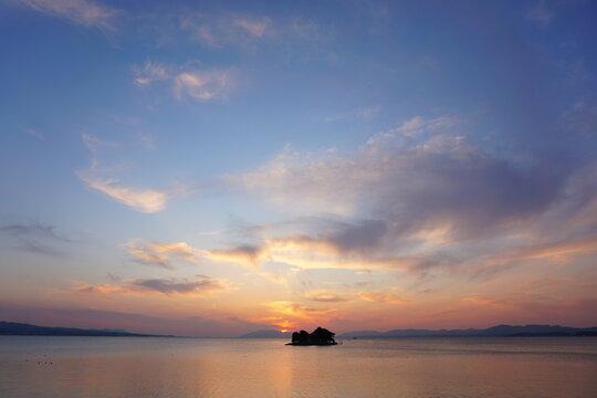 宍道湖 夕焼け 夕日