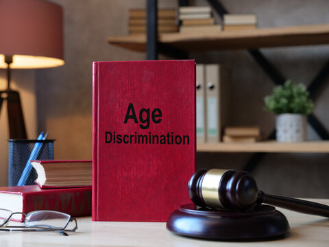 Age Discrimination is shown on the conceptual business photo