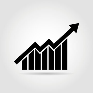 Growth diagram with Arrow going up