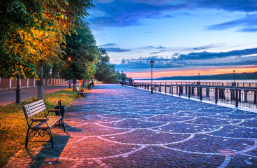A pier on the Volga embankment in Plyos