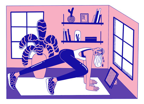 woman doing a homeworkout