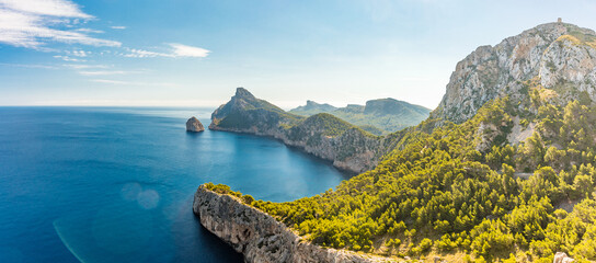 Cape Formentor area, coast of Mallorca, Spain