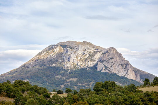 Mount Bugarach is the highest peak of the Corbieres Massif in Southern France.