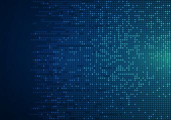 Digital technology background. Digital data square blue pattern pixel background