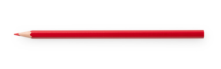Fototapeta Red pencil on a white background obraz