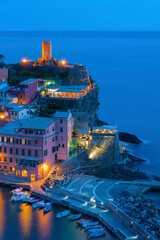 Fototapete - Idyllic landscape of Vernazza, Cinque Terre, Italy