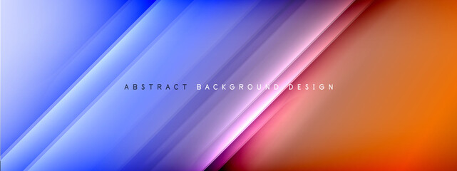 Deurstickers Graffiti collage Motion concept neon shiny lines on liquid color gradients abstract backgrounds. Dynamic shadows and lights templates for text