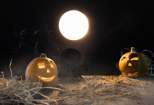 halloween pumpkin on the background