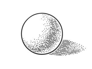 Ball geometric shape sketch raster illustration