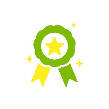 Green medal. Vector