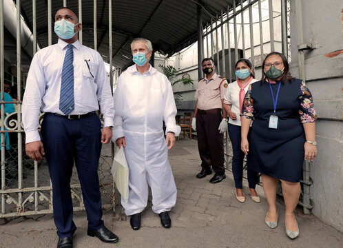 Steiros Illias, captain of oil tanker New Diamond, appears in court in Colombo