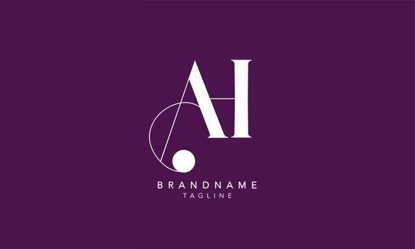 Alphabet letters Initials Monogram logo AH, HA, A and H
